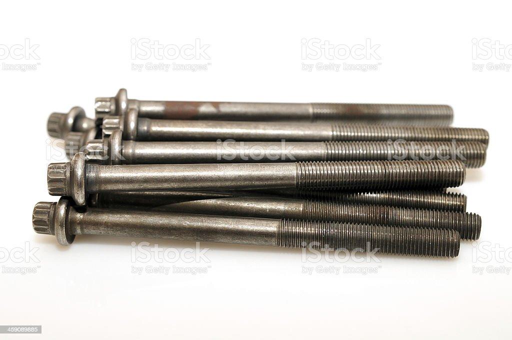 screw issolated on white. royalty-free stock photo