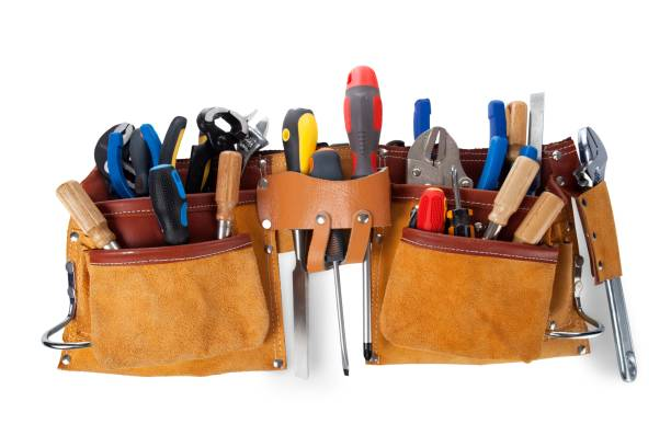screwdriver. - tool belt stock photos and pictures