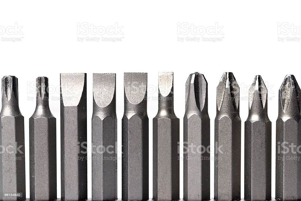 Screw-drivers in line royalty-free stock photo