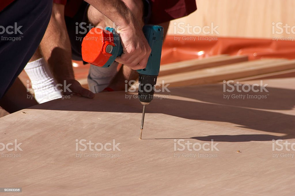 Screwing In royalty-free stock photo