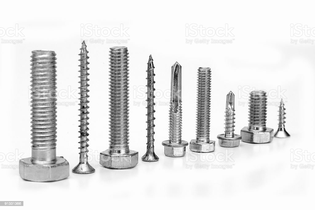 screws and bolts. stock photo