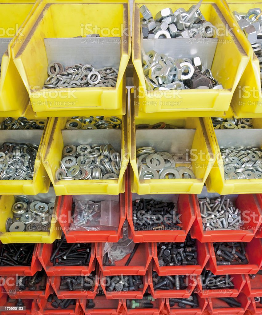 screws and nuts royalty-free stock photo