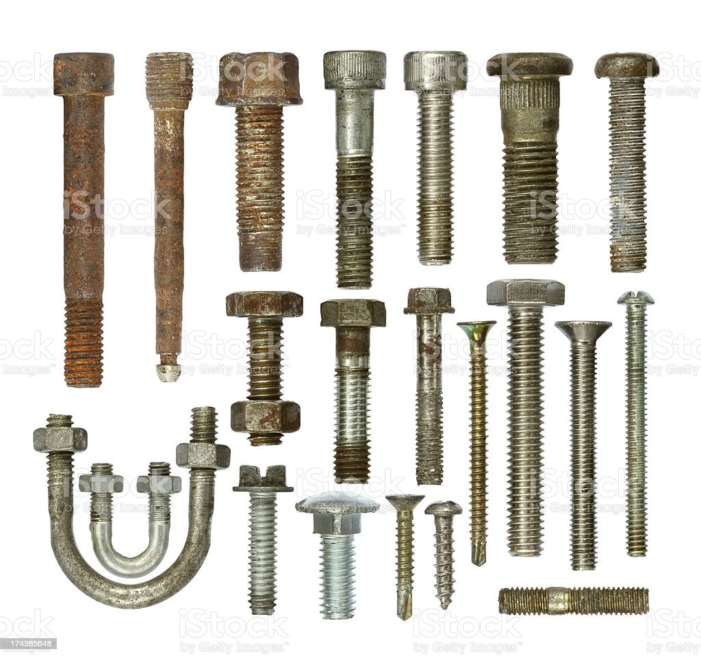 Screws collection set royalty-free stock photo