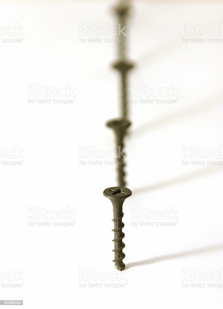 Screws in Line royalty-free stock photo