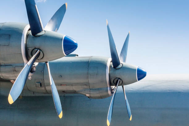 Screws of military huge aircraft. Screws of military huge aircraft. Airforce background. propeller stock pictures, royalty-free photos & images