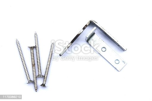 1143685700istockphoto Screws,anchor and steel corner, tools for construction on white background,isolate. 1170086210