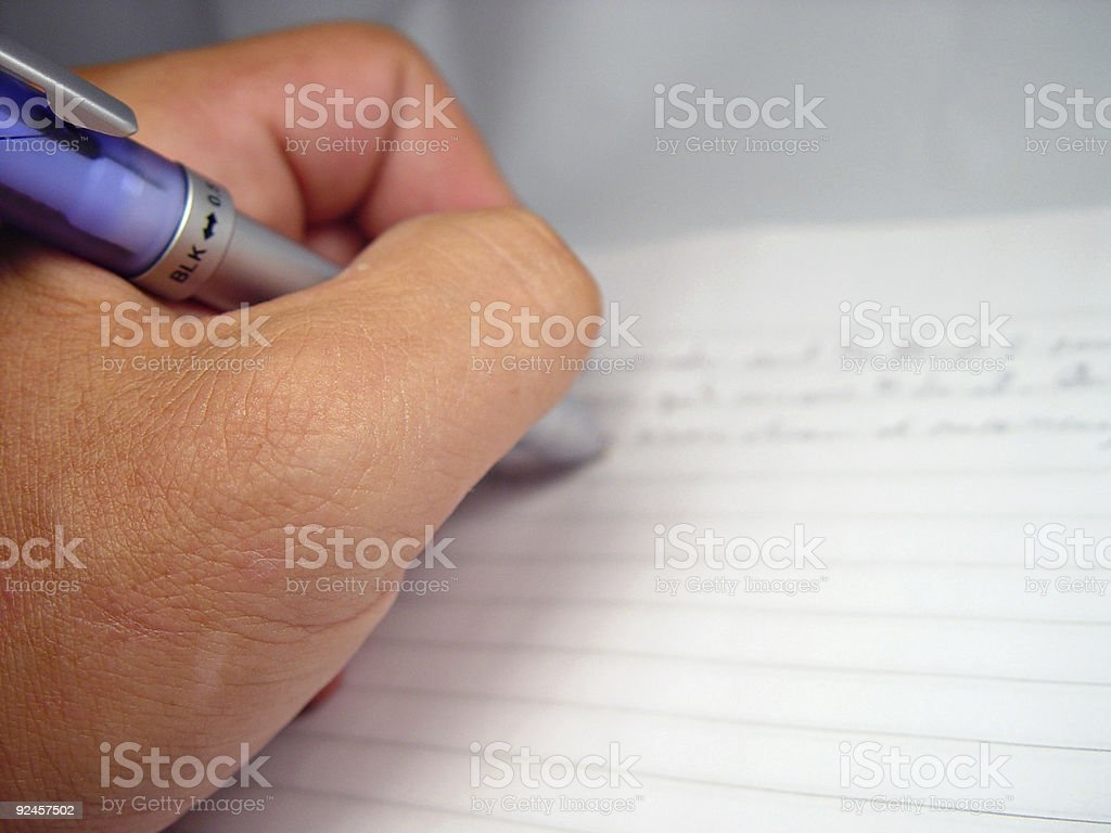 Scribble on Notebook royalty-free stock photo