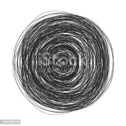 istock Scribble - Vortex (Clipping Path) 636289046
