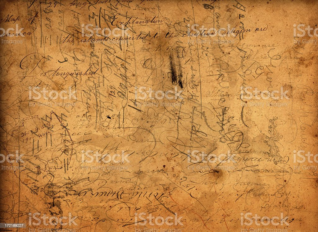 scribbles stock photo
