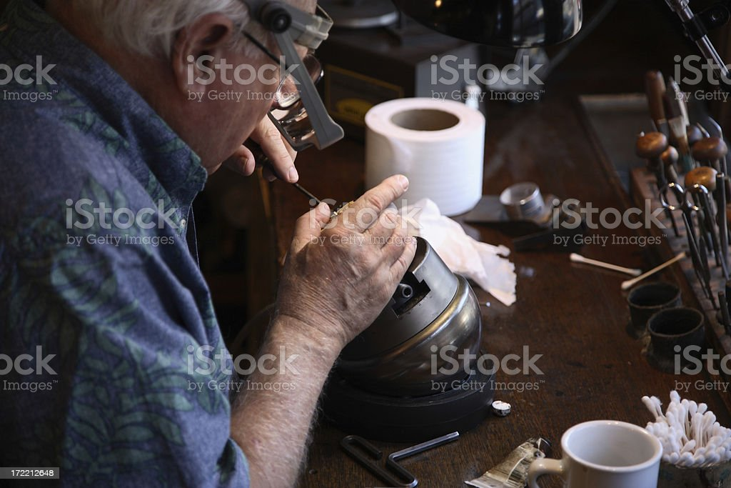 Scrimshaw Artist stock photo