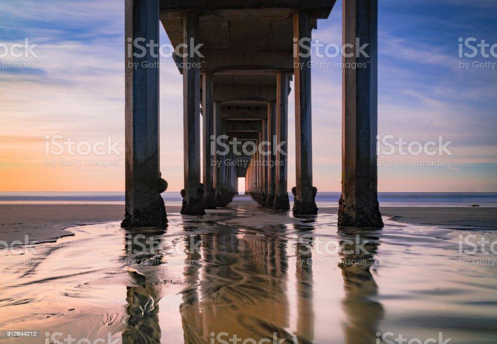 Scripps Pier La Jolla stock photo