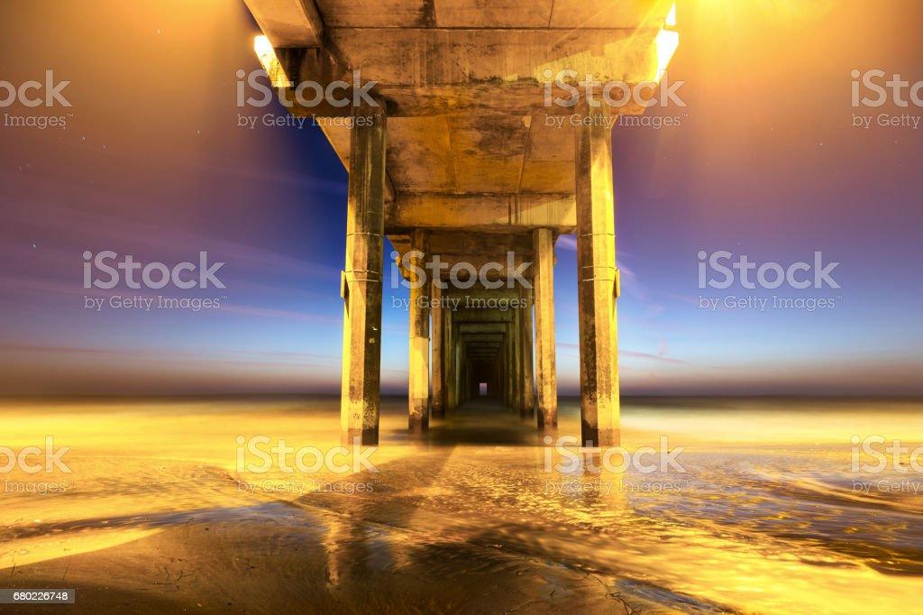 Scripps Pier La Jolla Shores San Diego California stock photo
