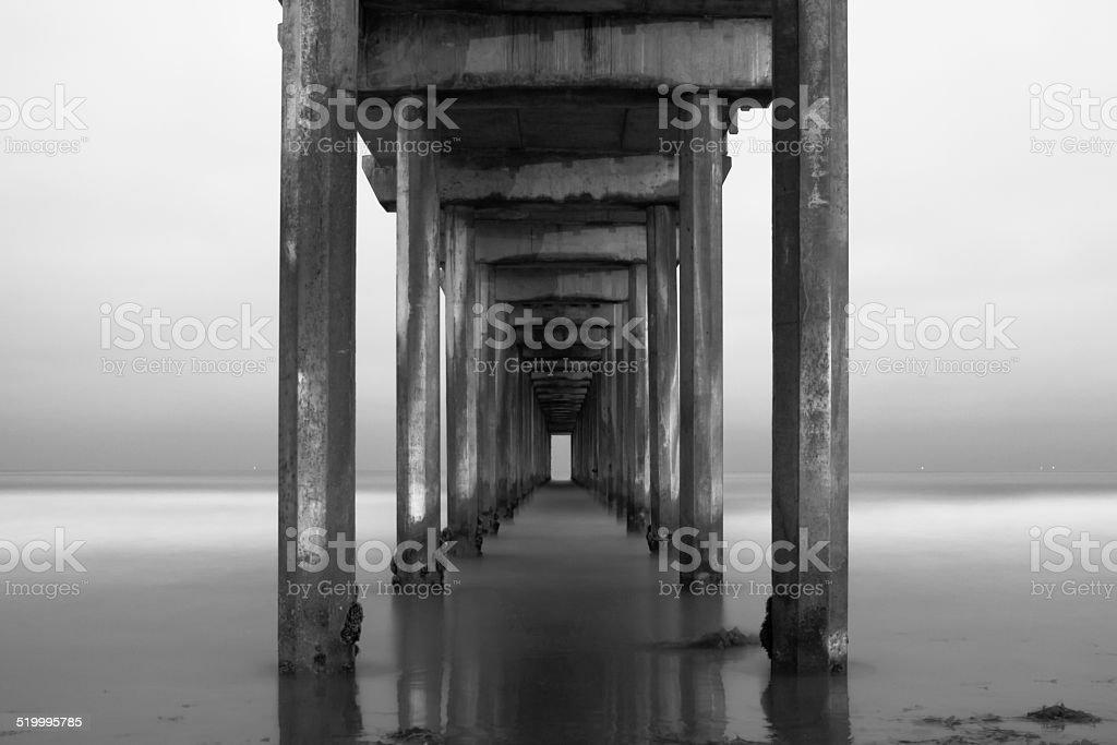 Scripps Pier stock photo