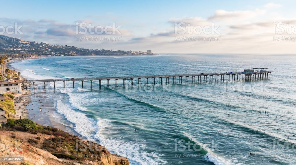 Scripps Pier stock photo