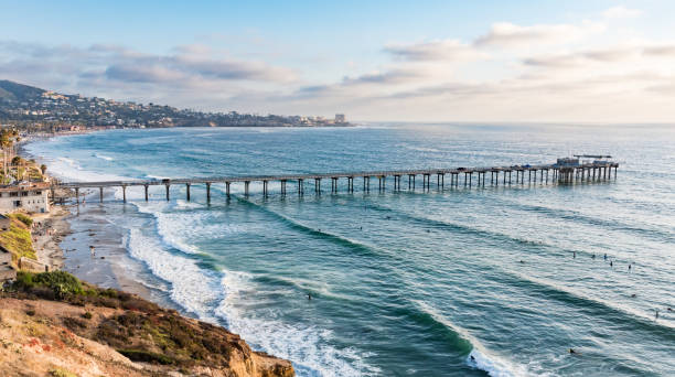 scripps pier - dally stock pictures, royalty-free photos & images