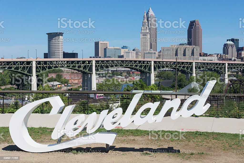 Script Cleveland stock photo