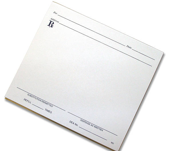 Script Pad Blank Pharmacy Script Pad padding stock pictures, royalty-free photos & images