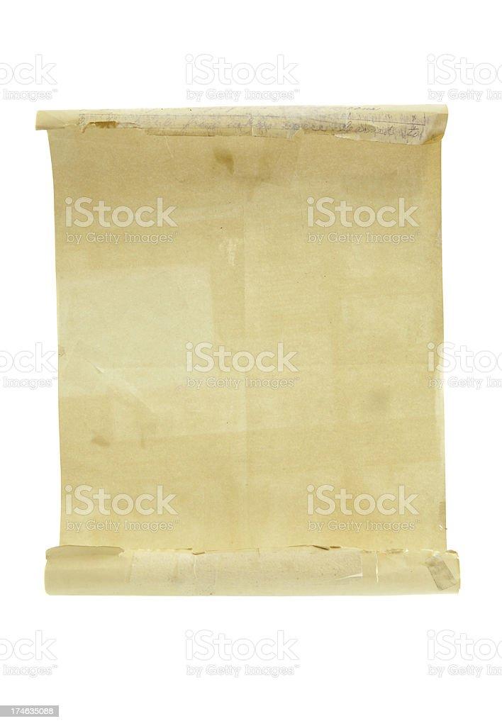 Scroll - Blank Open Letter stock photo