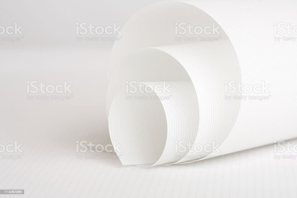 Scroll of Art Paper... stock photo