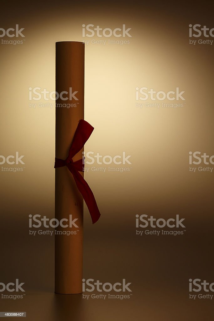 scroll of paper royalty-free stock photo