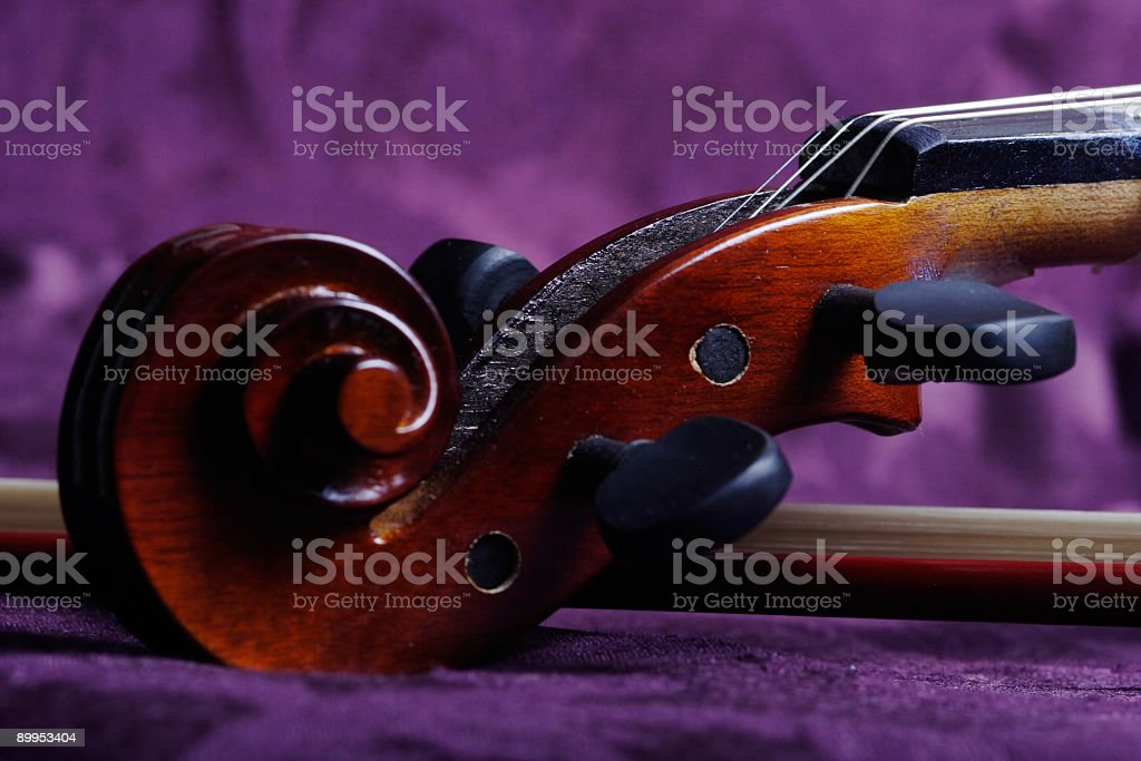 Scroll of the violin royalty-free stock photo
