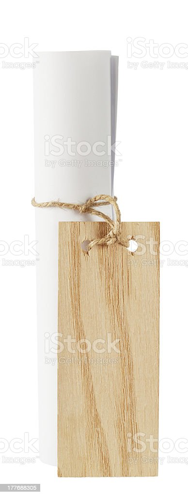 Scroll of white paper royalty-free stock photo