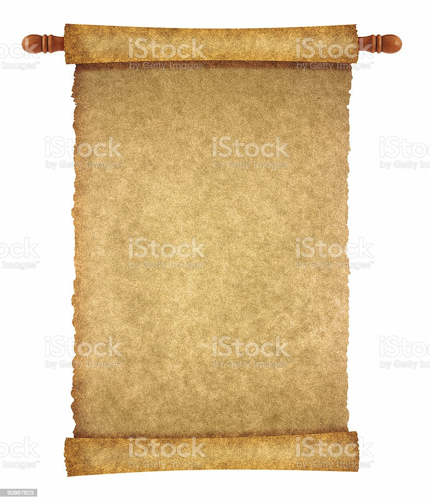 scroll page royalty-free stock photo