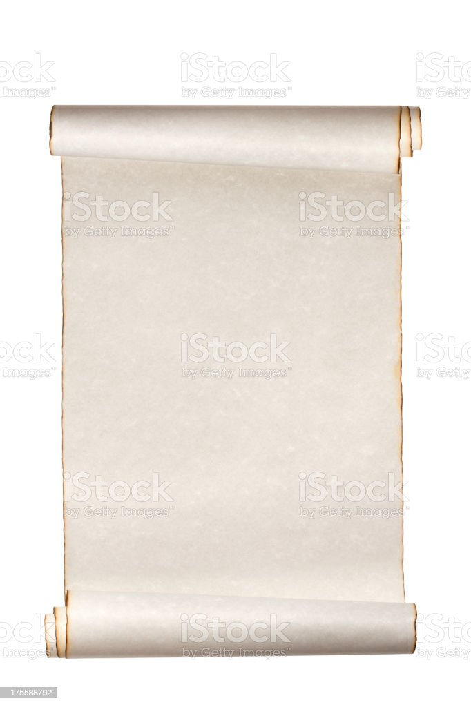 Scroll Paper stock photo
