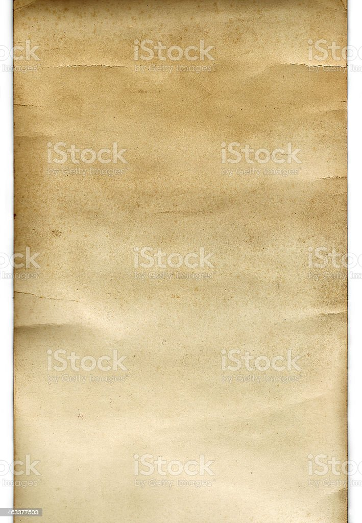 Scroll Vintage Paper (with clipping path) stock photo