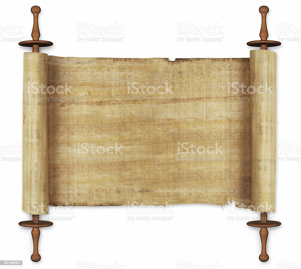 scrolls stock photo
