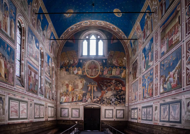 Scrovegni Chapel Chapel of the Scrovegni in Padua, Italy stock photo