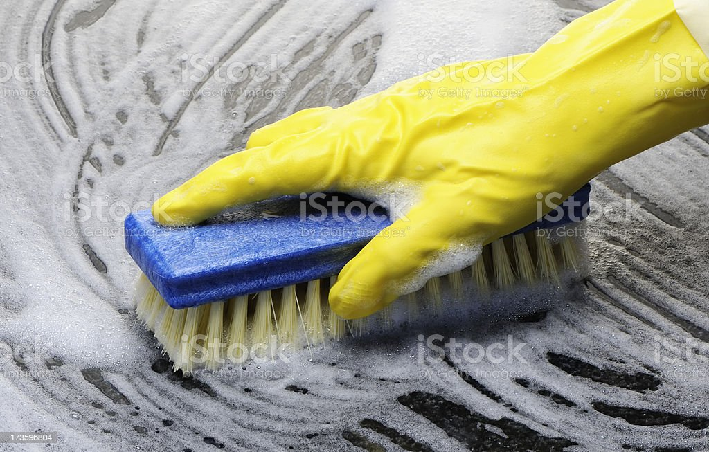 Scrubbing stock photo