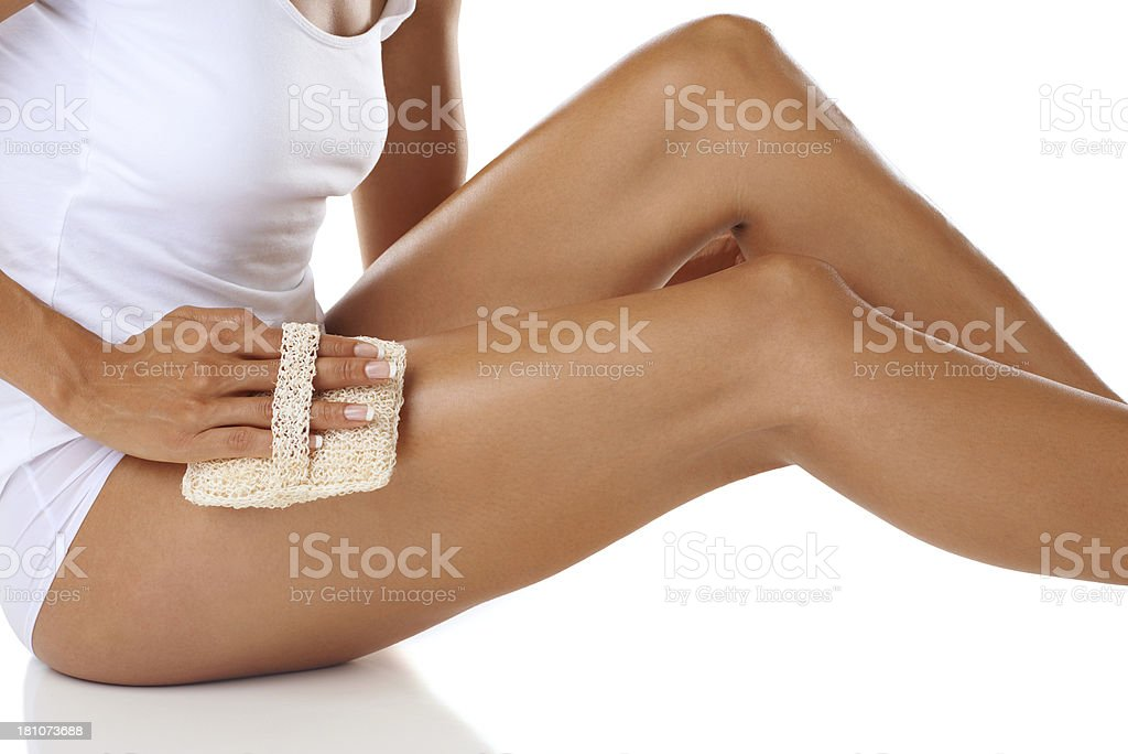 Scrubbing the day away royalty-free stock photo