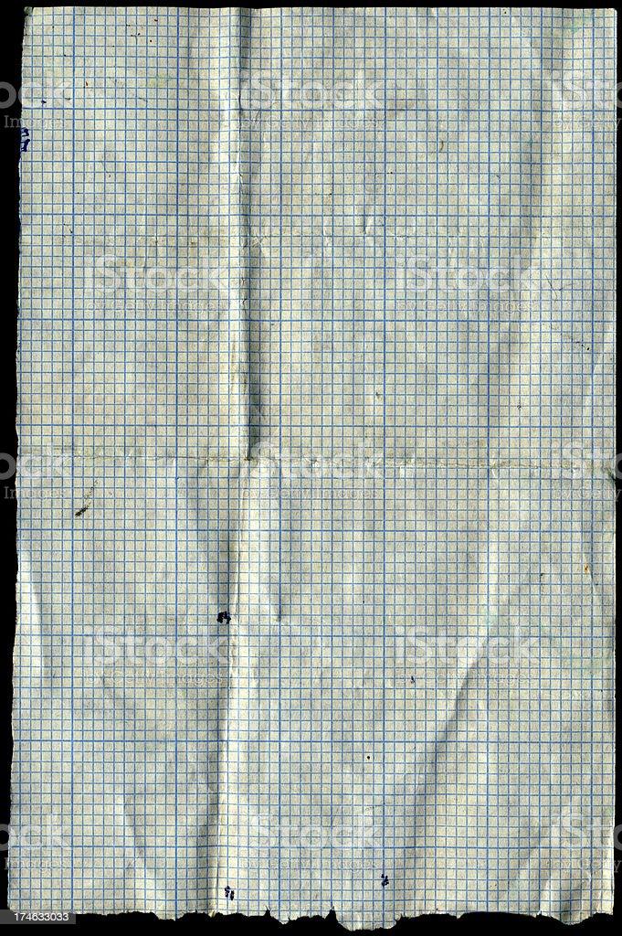 scruffy graph paper royalty-free stock photo