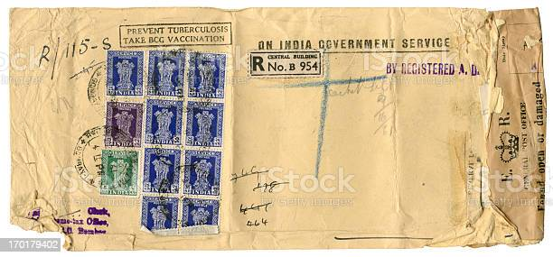Scruffy official envelope from India