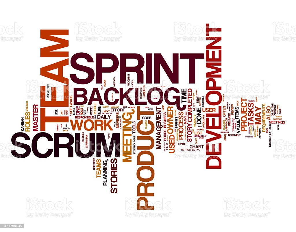 Scrum collage concepts royalty-free stock photo