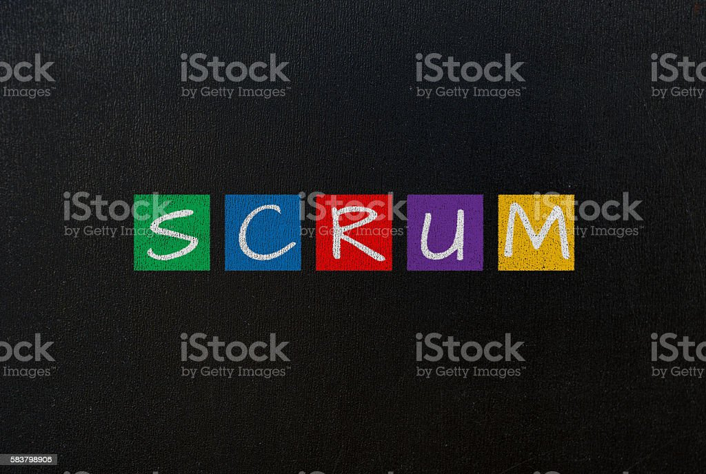 scrum concept stock photo