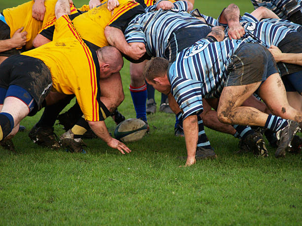 scrum - rugby stock photos and pictures