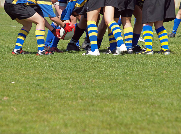 gedränge - rugby stock-fotos und bilder