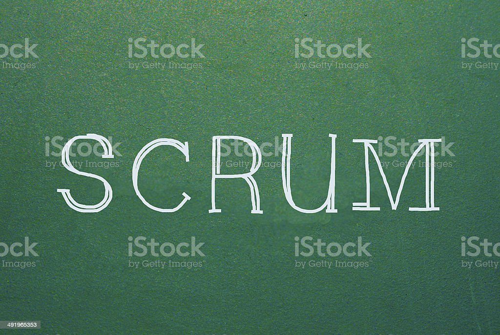 scrum stock photo