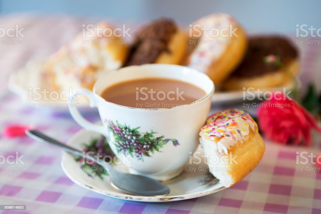Scrumptious donuts on a plate