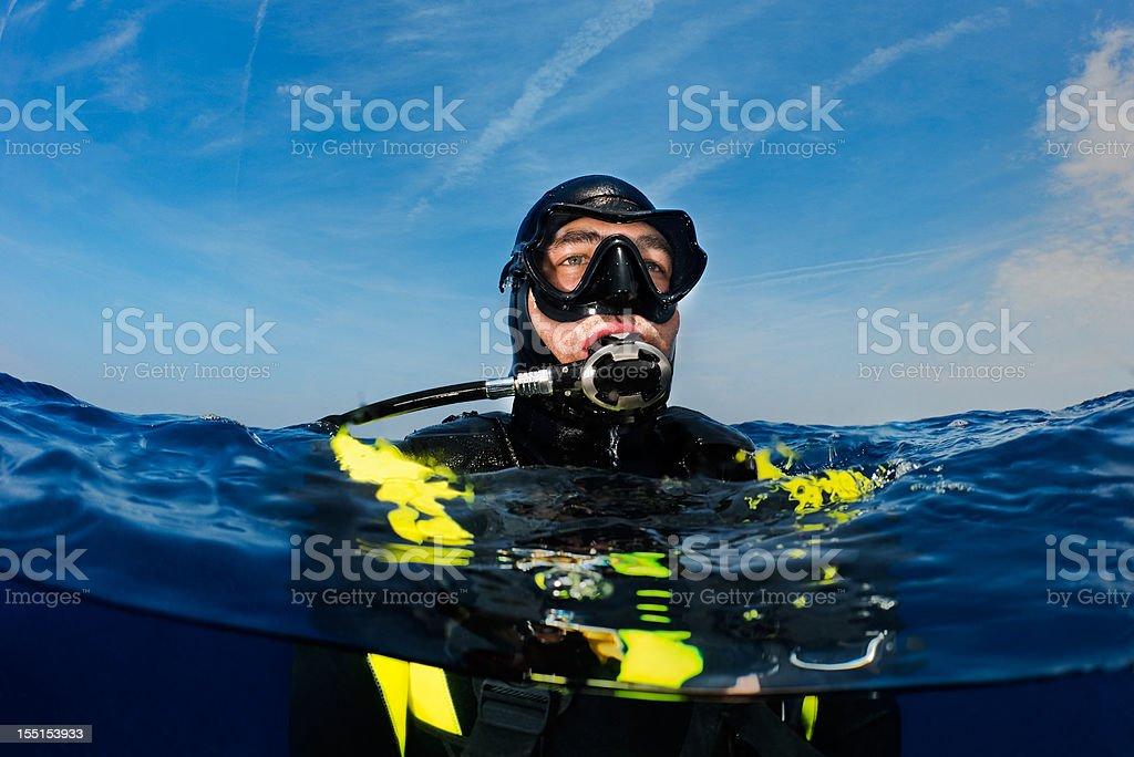 Mergulhador - foto de acervo