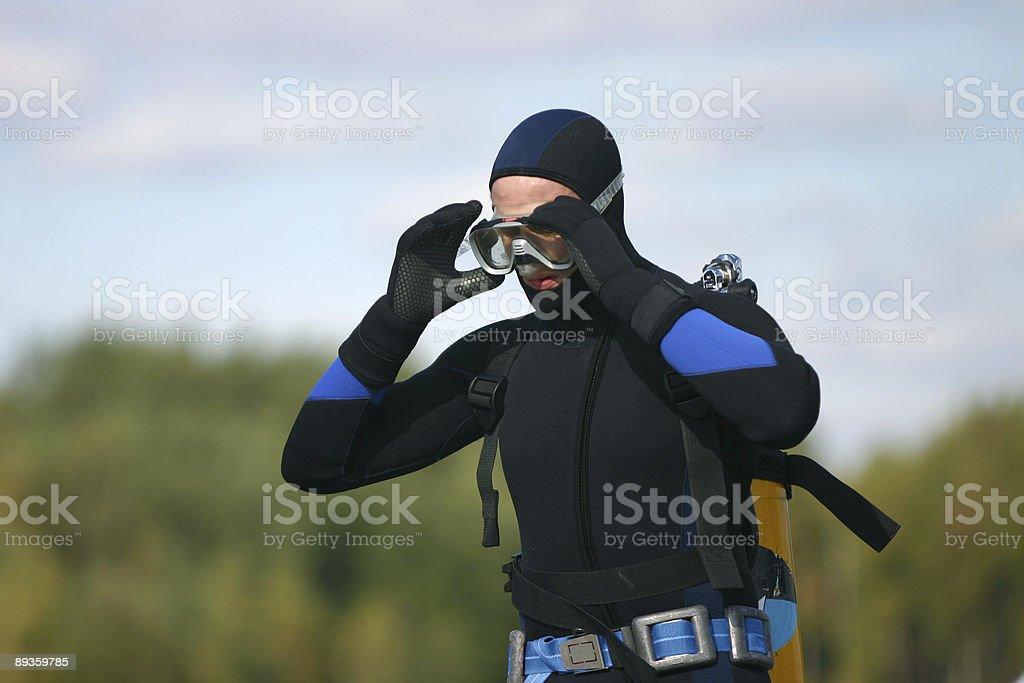 scuba diver royalty free stockfoto