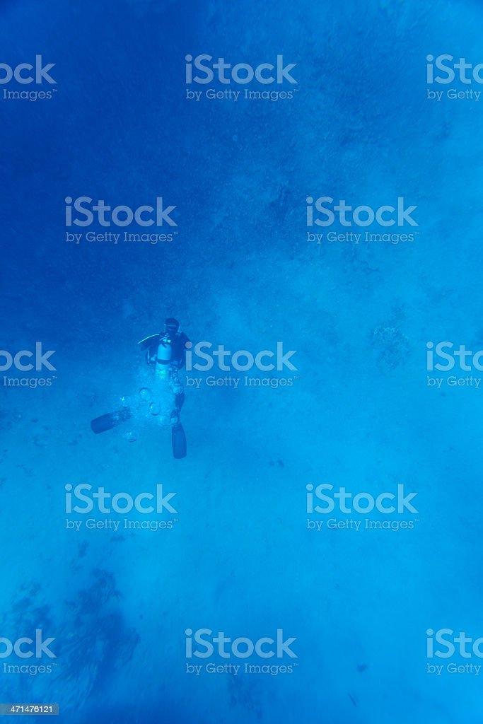 Scuba diver underwater stock photo