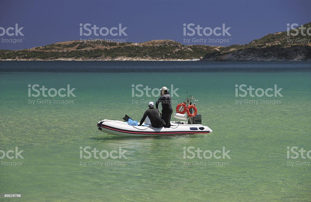 Scuba Divers royalty-free stock photo