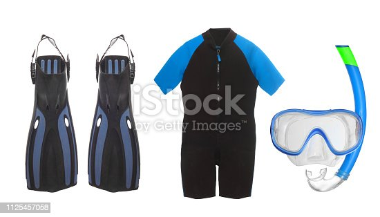 Set of objects on water sports theme.