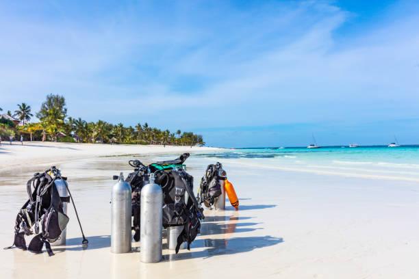 Tauchausrüstung Kwenda Strand Unguja Sansibar Tansania Afrika – Foto