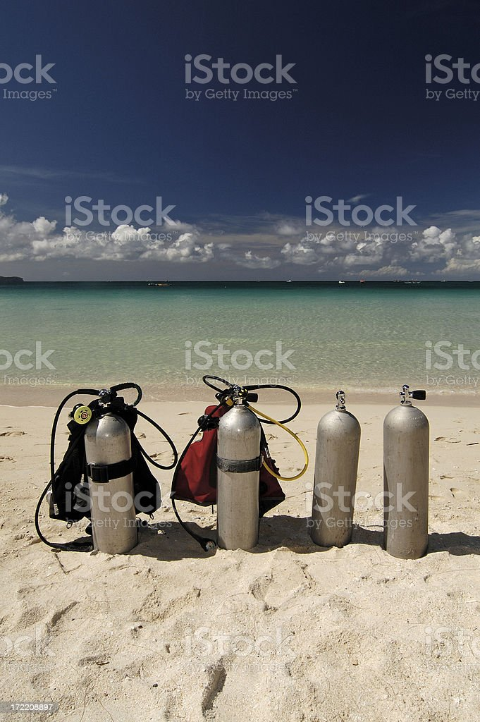 Scuba diving in Boracay royalty-free stock photo