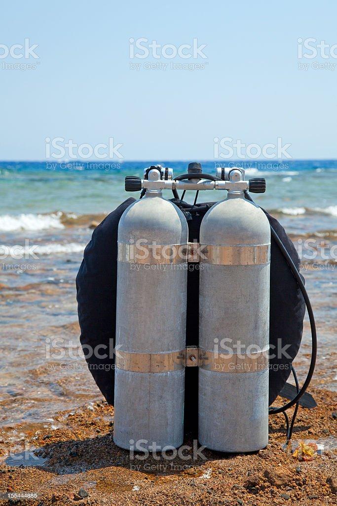 Scuba equipment stock photo