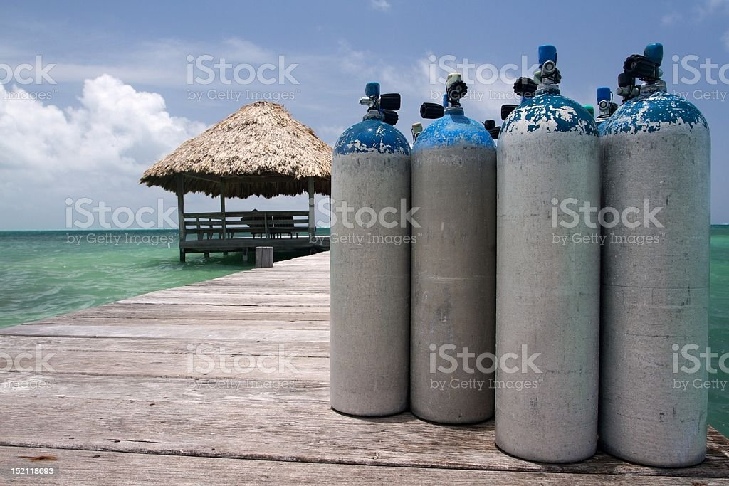 Scuba Tanks stock photo